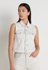 Calvin Klein Jeans - ARCHIVE VEST - Smanicato - bleach grey - 0