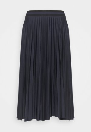PLEATED SKIRT - Pleated skirt - navy