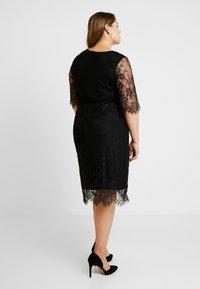 Zizzi - XYANA KNEE DRESS - Cocktail dress / Party dress - black - 3