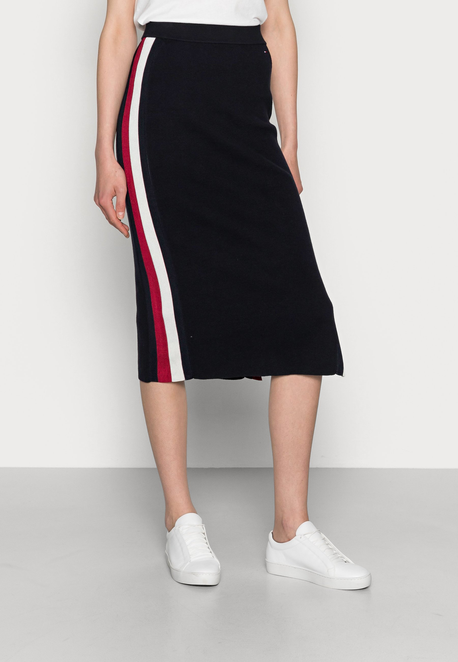 Femme GLOBAL STRIPE FITTED MIDI SKIRT - Jupe crayon