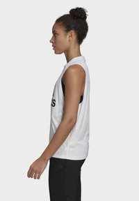 adidas Performance - BADGE OF SPORT COTTON TANK TOP - Top - white - 2