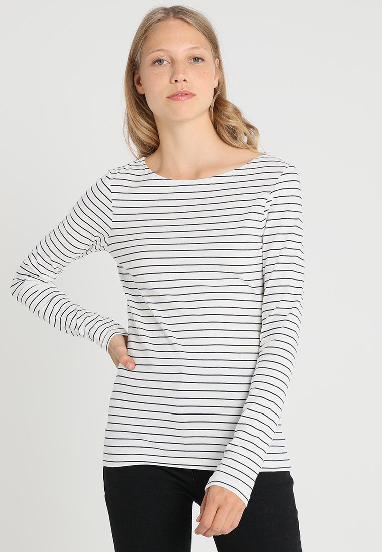 Zalando Essentials Tall - Long sleeved top - offwhite/dark blue