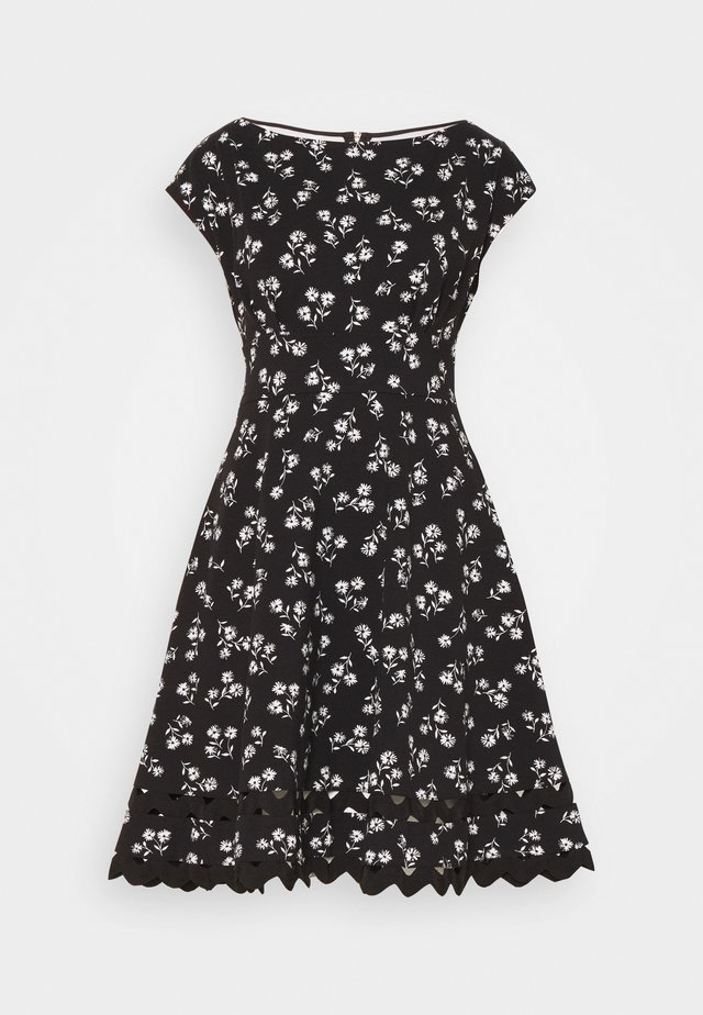 NERISSA FLORAL PONTE DRESS - Jerseykjole - black