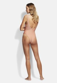 Seafolly - ESSENTIALS RETRO TANK MAILLOT - Swimsuit - rose sands - 2