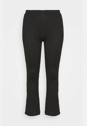 PCDIVI FLARED PANTS - Pantalon classique - black