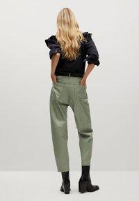 Mango - WALLY - Trousers - vert - 2