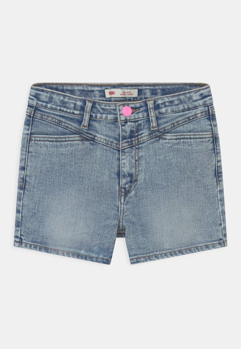 Levi's® - HIGH RISE - Denim shorts - light-blue denim