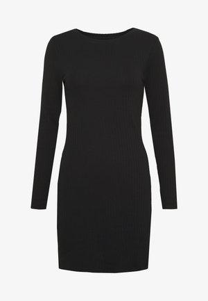 DRESS BODYON SOLID - Jerseykjole - black