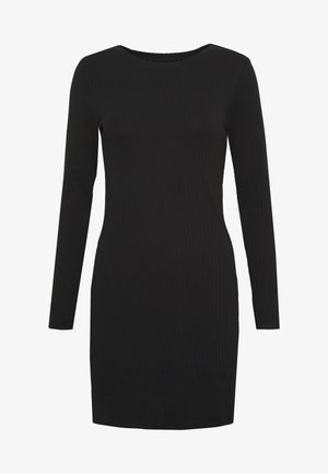 DRESS BODYON SOLID - Robe en jersey - black