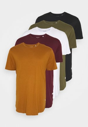 JJENOA TEE CREW NECK 5 PACK  - Basic T-shirt - multi-coloured