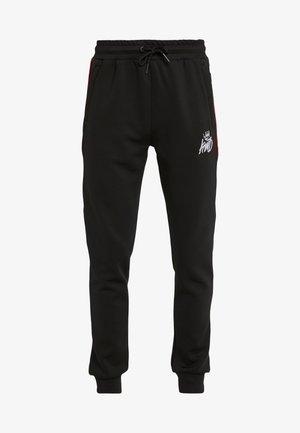 DEFLOUR JOGGERS WITH TAPING - Pantalon de survêtement - black