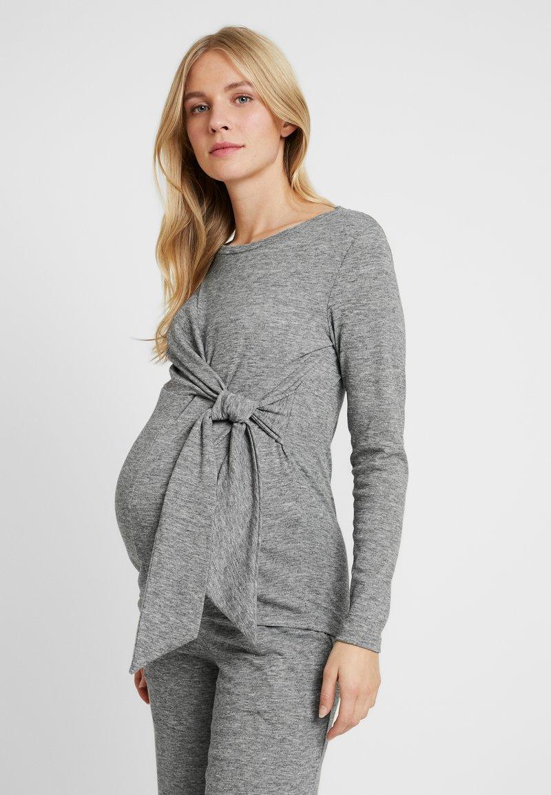 MAMALICIOUS - MLEVITA - Långärmad tröja - medium grey melange melange
