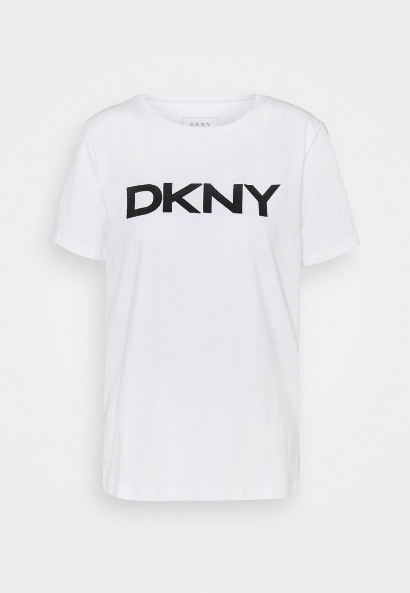 DKNY - FOUNDATION LOGO TEE - Print T-shirt - white