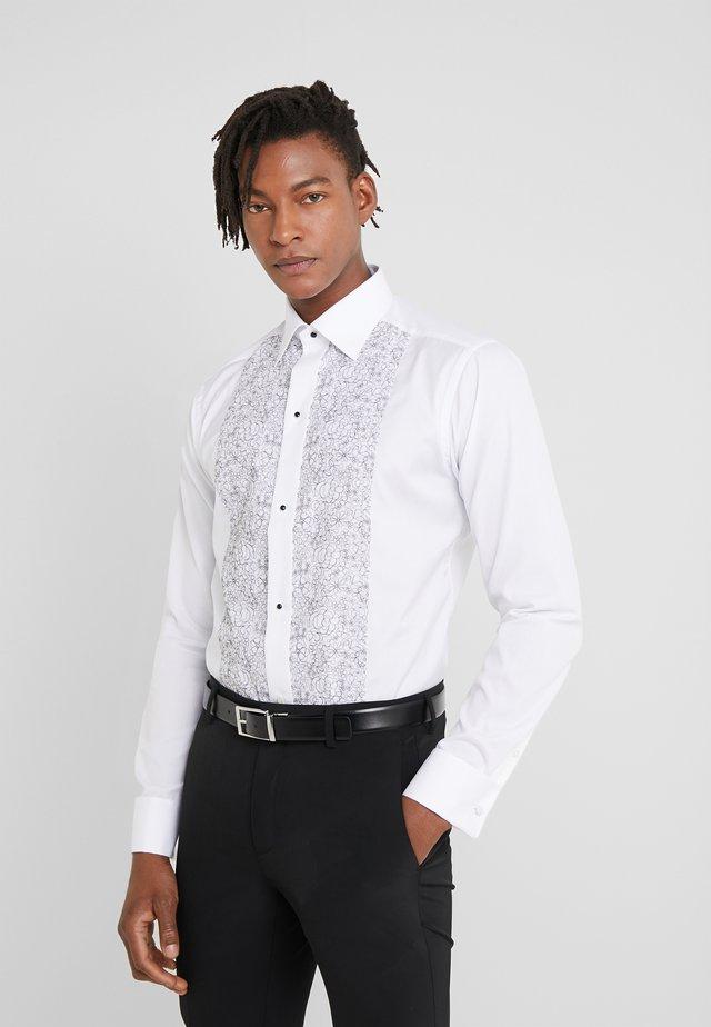 SLIM FIT - Camicia elegante - white/black
