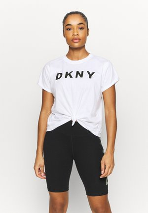 EXPLODED LOGO BOXY TEE - Print T-shirt - white