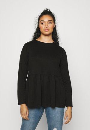 LONG SLEEVE PEPLUM - Maglietta a manica lunga - black