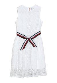 Tommy Hilfiger - STRIPE DRESS  - Sukienka koktajlowa - white - 0