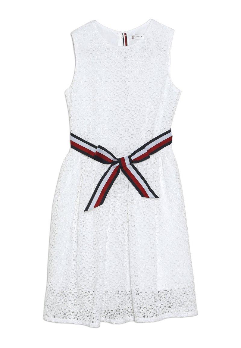 Tommy Hilfiger - STRIPE DRESS  - Sukienka koktajlowa - white