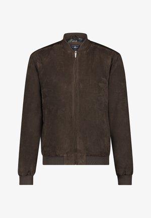 Bomber Jacket - dark-brown plain