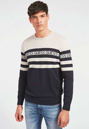LOGO STRIPED - Maglione - blau multi