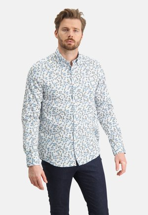 WITH A FLORAL PRINT - Shirt - white cobalt