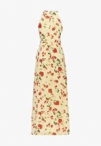 Vila - VIMILINA HALTERNECK DRESS - Suknia balowa - mellow yellow - 1