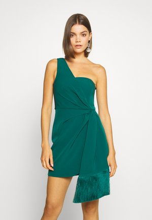 ASSYMETRIC MINI - Cocktail dress / Party dress - emerald