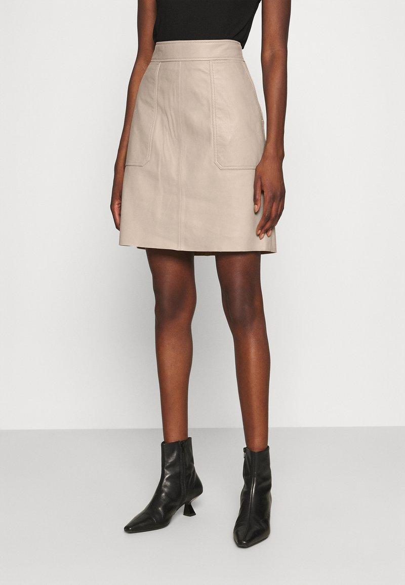 Second Female - FRANCIE MINI SKIRT - Mini skirt - humus