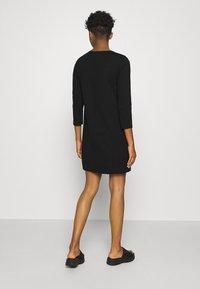 Vero Moda - VMEVA 3/4 SLEEVE SHORT DRESS - Jumper dress - black - 2