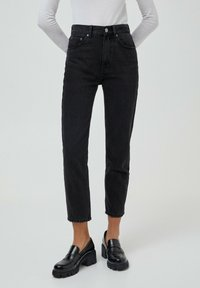 PULL&BEAR - MOM - Relaxed fit jeans - black - 0