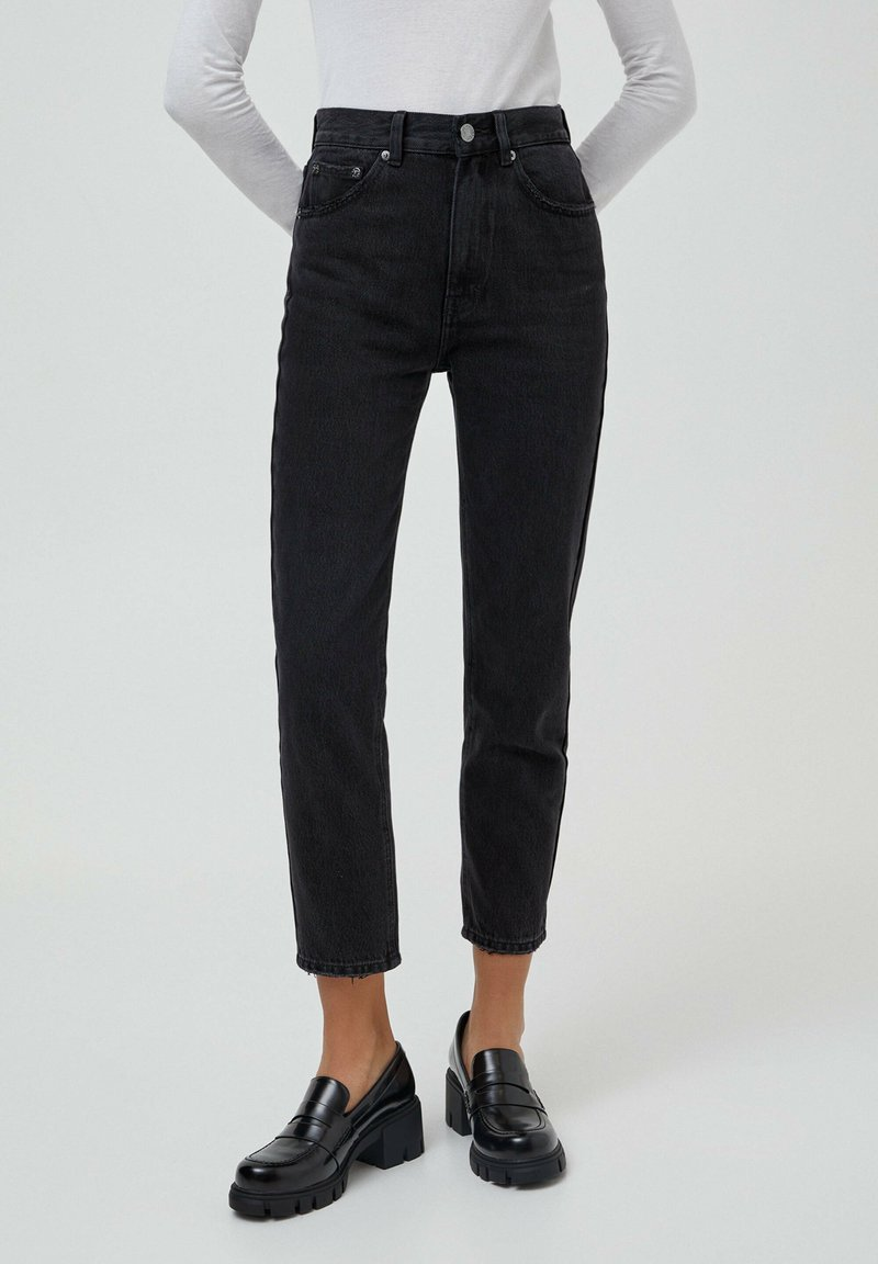PULL&BEAR - MOM - Relaxed fit jeans - black