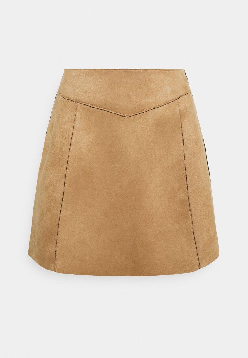ONLY - ONLLINUS - Mini skirt - toasted coconut