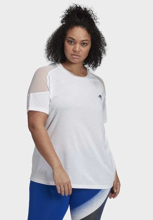 UNLEASH CONFIDENCE T-SHIRT (PLUS SIZE) - T-shirts med print - white