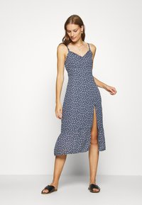 Abercrombie & Fitch - TIE SHOULDER DRESS - Day dress - blue/white - 3