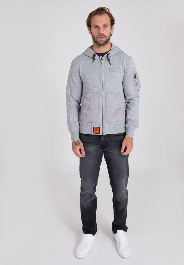RANGER - Hoodie met rits - grey