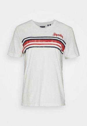 RETRO STRIPE TEE - Camiseta estampada - chalk white