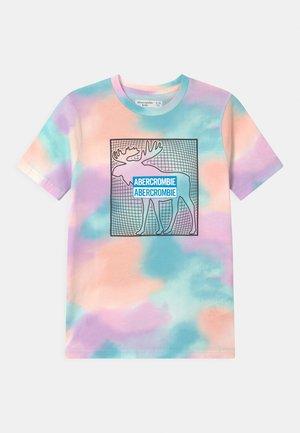 PRINT LOGO DYE - Print T-shirt - blue