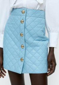 Uterqüe - A-line skirt - light blue - 4