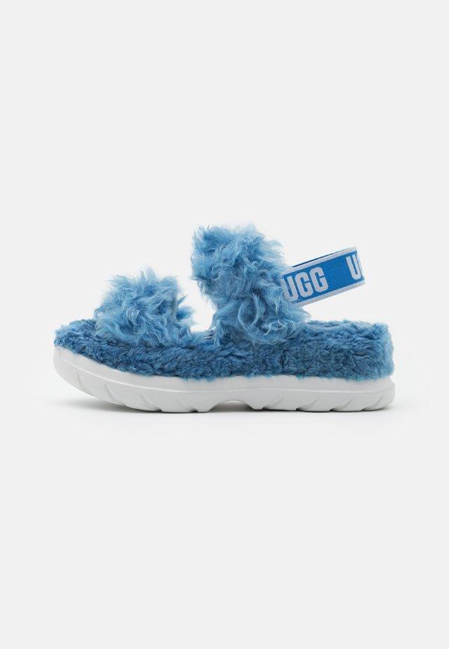 FLUFF SUGAR  - Sandały na platformie - blue