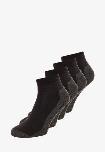 SPORT QUARTER BOX 4 PACK - Sports socks - black