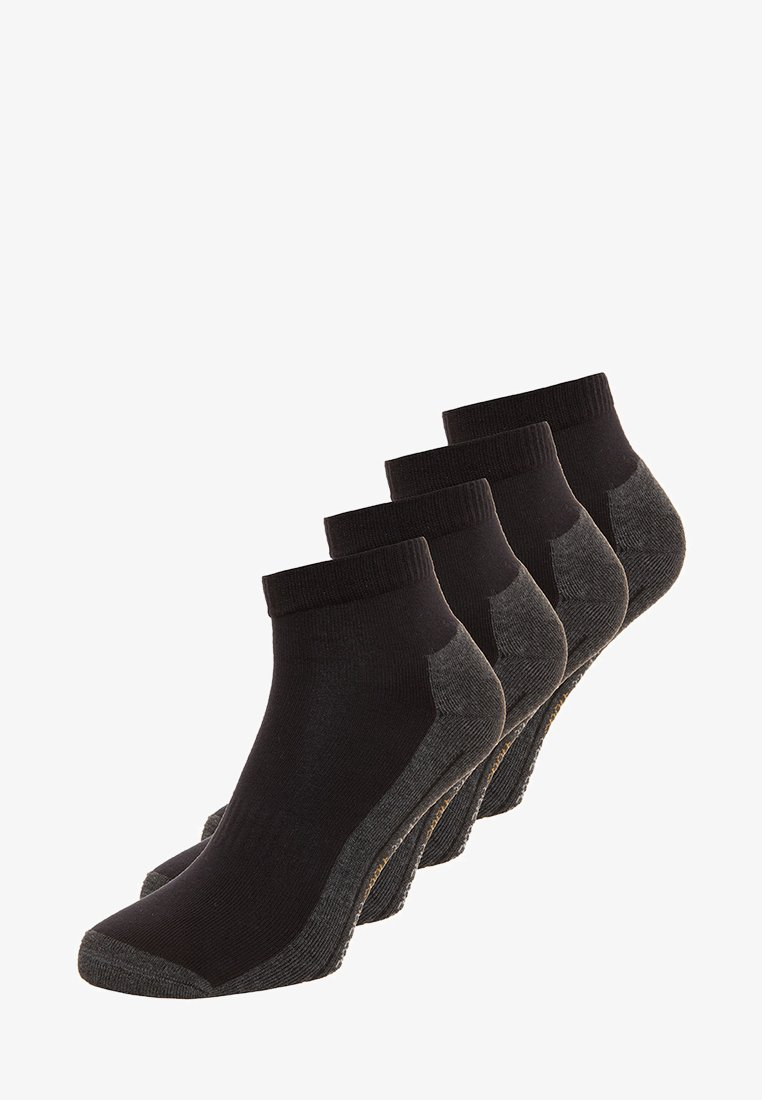 camano - SPORT QUARTER BOX 4 PACK - Sportovní ponožky - black