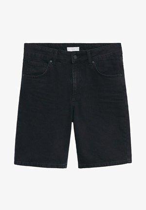 JAMES - Denim shorts - black denim