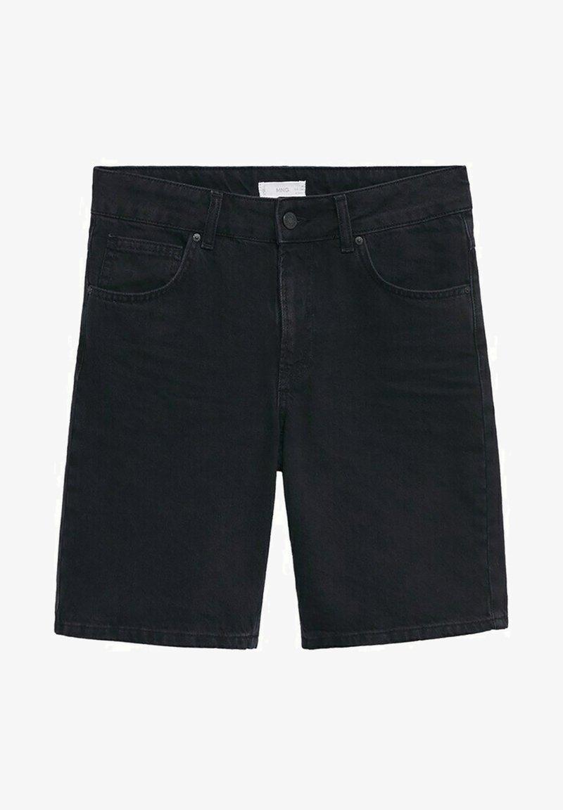 Mango - JAMES - Denim shorts - black denim