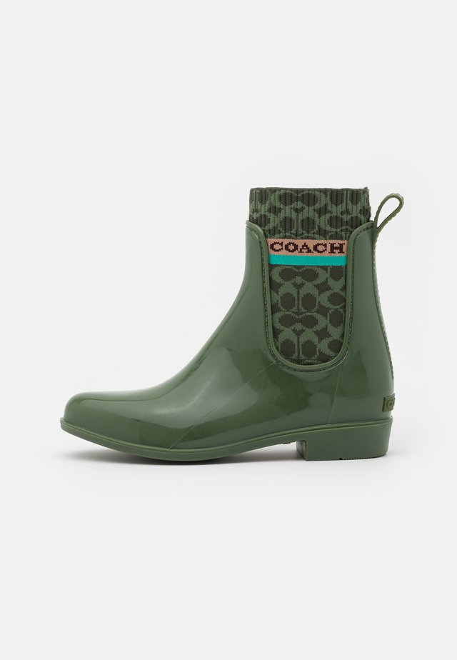 RIVINGTON RAIN BOOTIE - Stivali di gomma - bronze/green