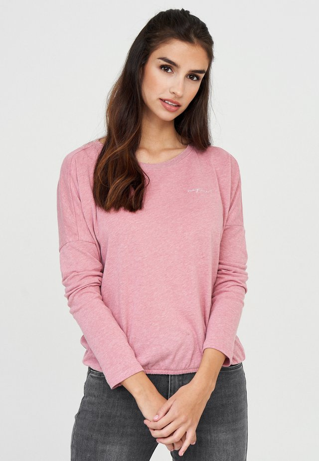 Long sleeved top - powder pink mel.