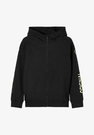 MIT REISSVERSCHLUSS PRINT - Zip-up hoodie - black