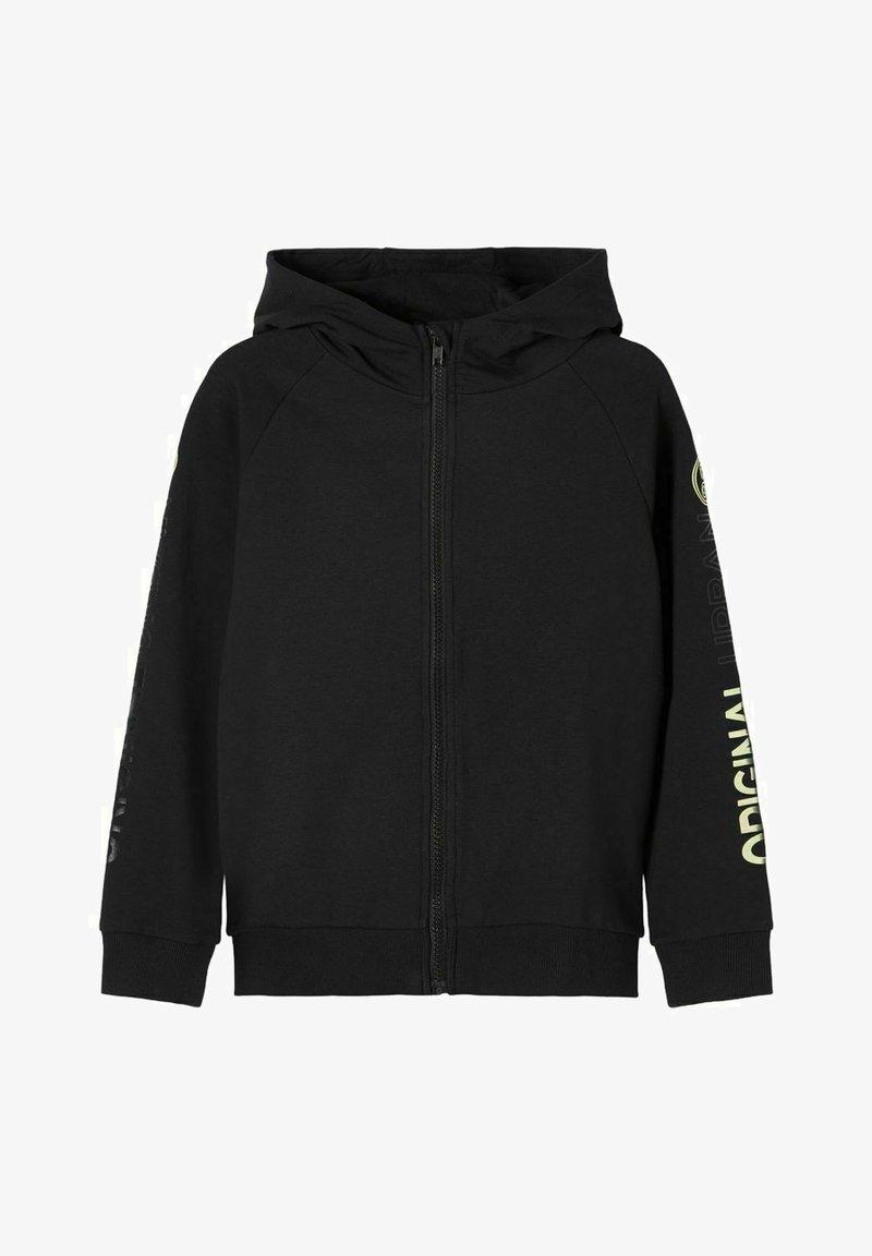 Name it - MIT REISSVERSCHLUSS PRINT - Zip-up hoodie - black