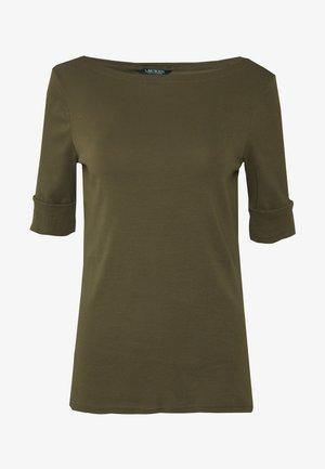 Print T-shirt - dark sage