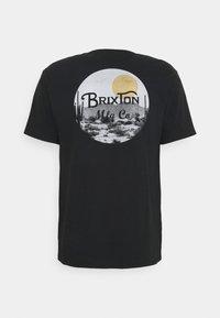 Brixton - WHEELER - T-shirt imprimé - black/blonde - 1
