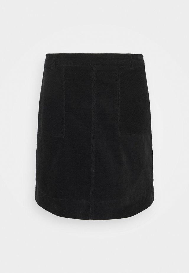 VICTORIA SOLID SKIRT - Minijupe - black
